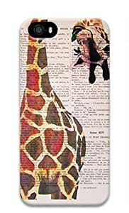 3D Hard Plastic Case for iPhone 5 5S 5G,Giraffe Case Back Cover for iPhone 5 5S