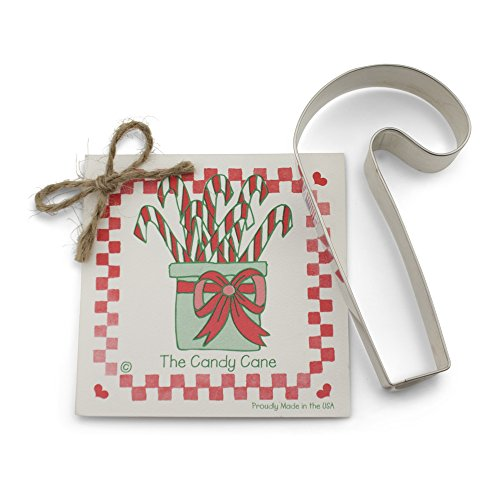 Candy Cane Cookie and Fondant Cutter - Ann Clark - 5.5 Inches - US Tin Plated Steel