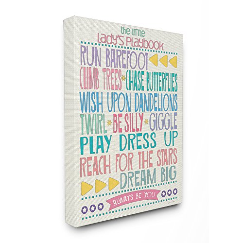 The Kids Room by Stupell The Little Lady's Playbook Typography Canvas Art, 16