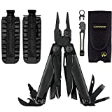 Leatherman Surge Multi-Tool With Nylon Sheath + 42-Bit Assortment for Leatherman Bit Drivers + Leatherman Removable Pocket Clip Quick-Release Lanyard Ring (Black)