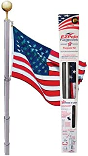 product image for EZPole Liberty 21 ft. Aluminum Telescopic Flagpole Kit with Swivels