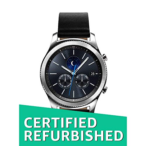 (Samsung Gear S3 Classic Smartwatch (Bluetooth), SM-R770NZSAXAR US Version with Warranty (Renewed))
