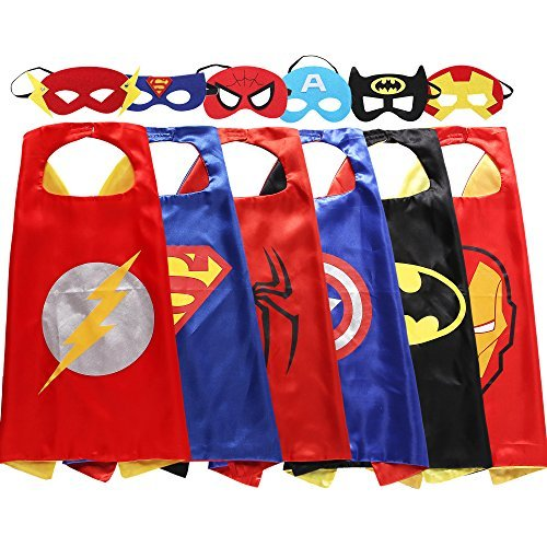 Zaleny Superhero Costumes Dress up Satin Capes Felt