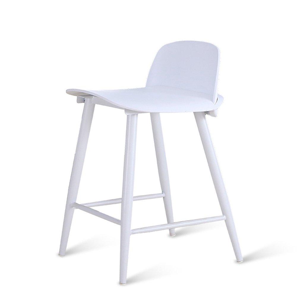 FEIFEI バースツールPPプラスチック+金属フレーム現代クリエイティブシンプリシティ色複数の選択肢バーカフェフロントデスク実用スツール ( 色 : 白 , サイズ さいず : 76cm ) B07BDG9CS6 76cm|白 白 76cm