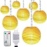 DecorNova 10-Foot 15-LED Lantern Plug-In String Lights