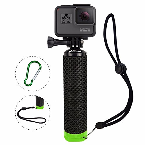 ProFloat Waterproof Floating Hand Grip Compatible with GoPro Camera Hero 5 Session Black Silver Hero 6 5 4 3 2 1 Handler & Handle Mount Accessories Kit & Water Sport (Greens Floating Sticks)