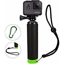 ProFloat Waterproof Floating Hand Grip Compatible with GoPro Camera Hero 5 Session Black Silver Hero 6 5 4 3 2 1 Handler & Handle Mount Accessories Kit & Water Sport Floaty for Action Cameras (Green)