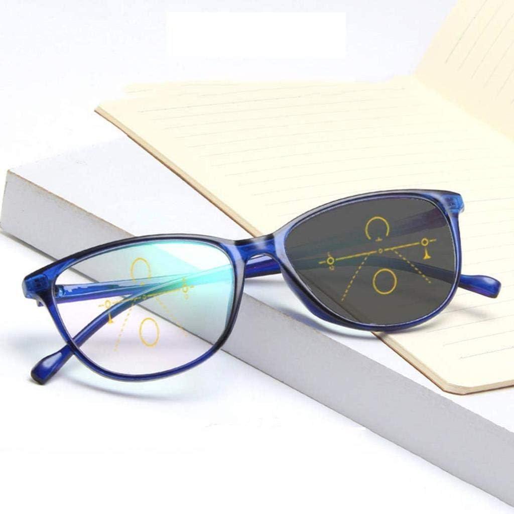 DONGBALA Gafas de Lectura Coche multifocal fotocrómico, progresiva para Hombres y Mujeres,Azul,2.5