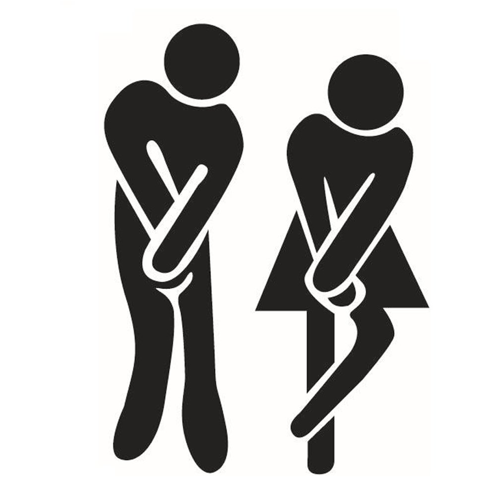 Theworld Removable Men Women Washroom Toilet Sticker WC Bathroom Decal Restroom Door Sign (Sticker) best