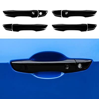 Thenice for 10th gen Civic ABS Door Handle Cover Exterior Decoration for Honda Civic 2016 2020 2020 2020 2020 With Keyless Holes -Black: Automotive