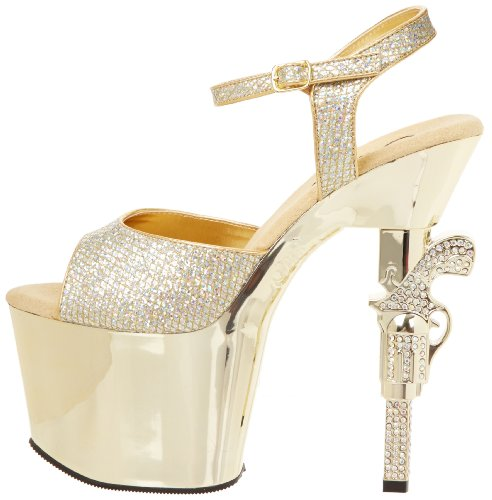 Sandalias Gltr Gold Mujer Pleaser Chrome gold Multi Dorado 4wCdqtdZ