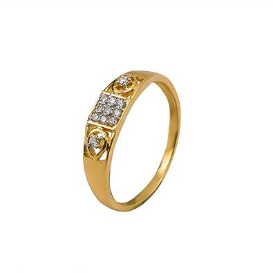 02bf9ca3166 Buy Joyalukkas 18k Yellow Gold and Diamond Ring Online at Low Prices ...