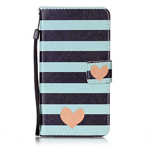 LG X Power Case, LG K6P Case, Everun Fashion Colorful Premium PU Leather Flip Wristlet Wallet Stand Case with Built-in Credit Card Slots Cover for LG X Power/LG K6P