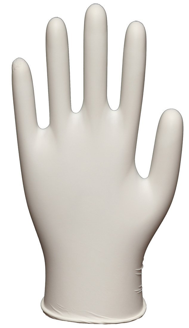 Daxwell Latex Glove, Powdered, Large, Ivory (10 Boxes of 100 Gloves)