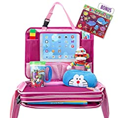 Busy Child = Happy Parent!Enjoy your family excursions & keep your child entertained with TravelMe versatile 4 in 1 travel activity station for kids: car seat play tray, backseat organizer, holder for iPad & other tablets and compact...
