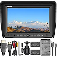 Neewer NW-708M 7 inches On-Camera Field Monitor Kit:800x480 High Resolution IPS Screen Monitor, Dual Battery Charger, 2 Packs Replacement Battery for Sony F550
