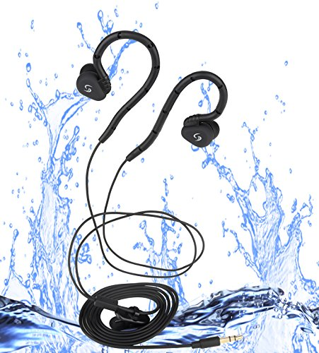 Sigoma High sound quality waterproof swimming headpones(IPX-8) Black