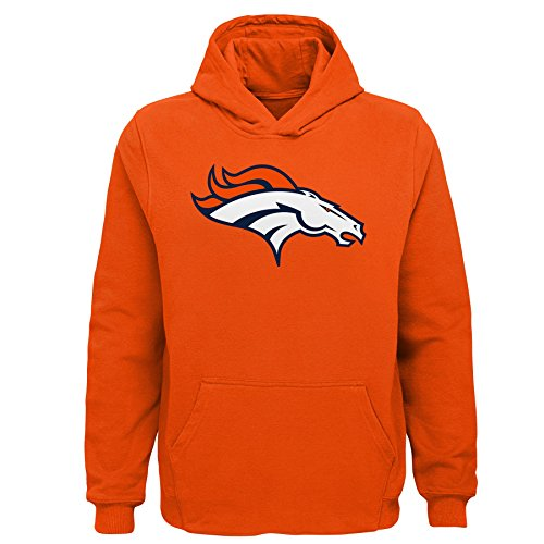 NFL by Outerstuff NFL Denver Broncos Toddler Primary Logo Sueded Classic Hoodie Orange, -