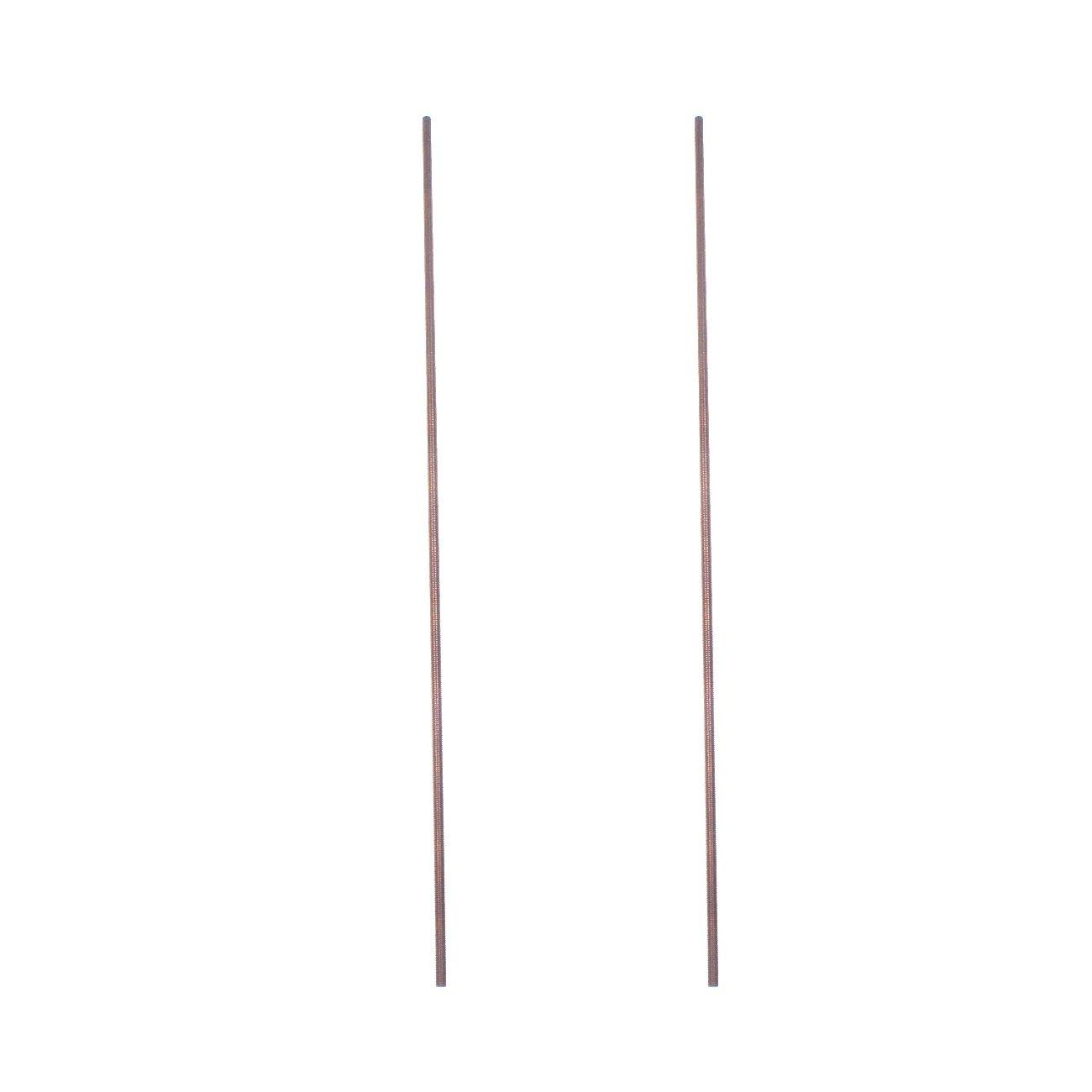 2Pcs Brass Thread Rod Screw Full-Threaded M3250mm Brand New NORTHTIGER
