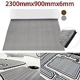 Pure Grey Self Adhesive EVA Foam Teak Sheet Boat Yacht Synthetic Decking 0.5cm 90x230cm Foam Floor Mat
