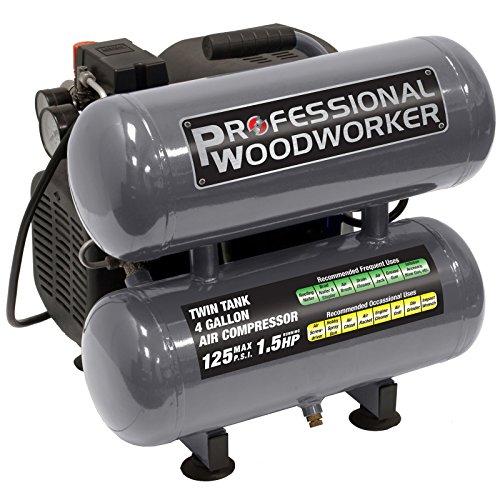 Professional Woodworker (Professional Woodworker 9526 4 Gallon Twin Stack Air Compressor)