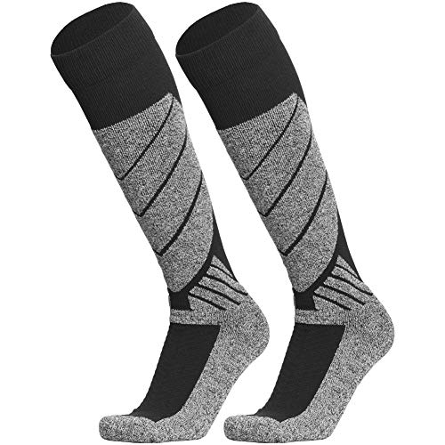 WEIERYA Ski Socks Warm Cotton Sports Outdoor Socks for Winter Skiing Snowboarding Skating Hiking, 2 Pairs