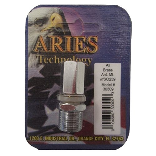 Aries CB Radio All Brass Antenna Mount w/SO239