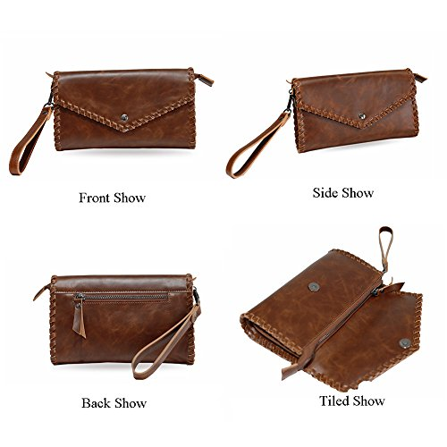 Bag Men Wallet Capacity Large Pu Leather Cover Aiurbag Bracelet Handmade v0xwqw6