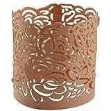 Just Artifacts Flameless Tealight Laser Cut Paper Votive Wraps (50pcs, Blush) - Votvie Wraps & Candle Holders for Weddings, Special Events & Life Celebrations!