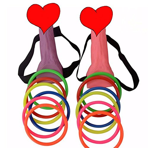 TS-Dany Bachelorette Party Favor Ring Toss Hoopla Games Dick Heads Funny Adult Game Hen Night Party Set Supplies by TS-Dany