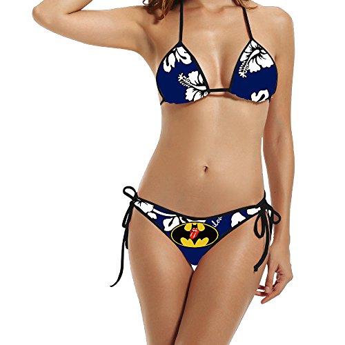 HAOYANG Women's Rolling Bat Hero Come Triangle Top Bikini Swimsuit