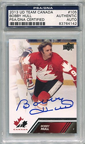 (Bobby Hull Team Canada PSA/DNA Certified Authentic Autograph - 2013 Upper Deck (Autographed Hockey Cards))