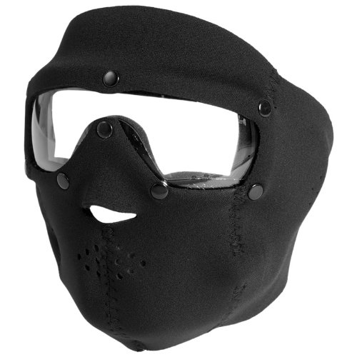 Swiss Eye Neoprene Face Mask with Integrated Goggles Black Clear Lens