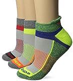 Saucony Women's Inferno Tab Socks, Grey Bright , Medium/Shoe Size 7-10 (Pack of 3)