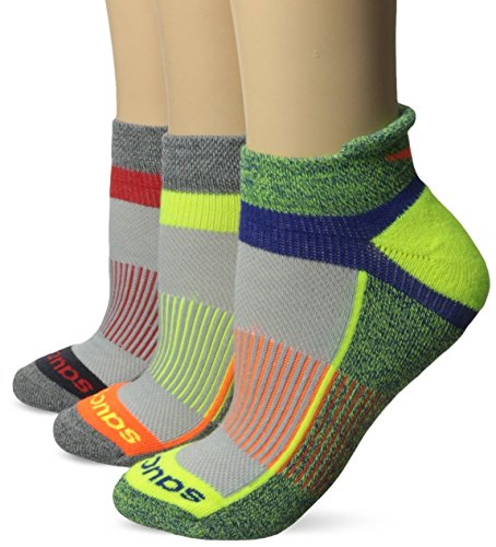 Saucony Women's Inferno Tab Socks, Grey Bright, Medium/Shoe Size 7-10 (Pack of 3) (Shoes Gray Saucony)