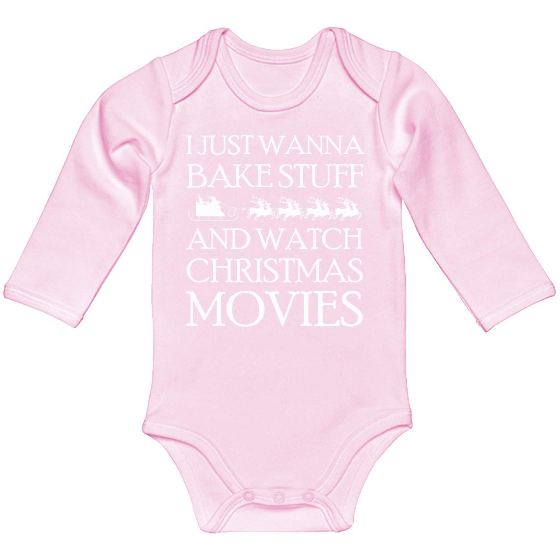 Baby Onesie Bake Stuff Christmas Movies 100/% Cotton Long Sleeve Infant Bodysuit