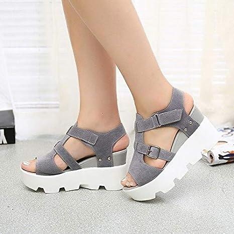 2a9832f024ba5 Amazon.com: DingXiong 2018 Summer Sandals Shoes Women High Heel ...