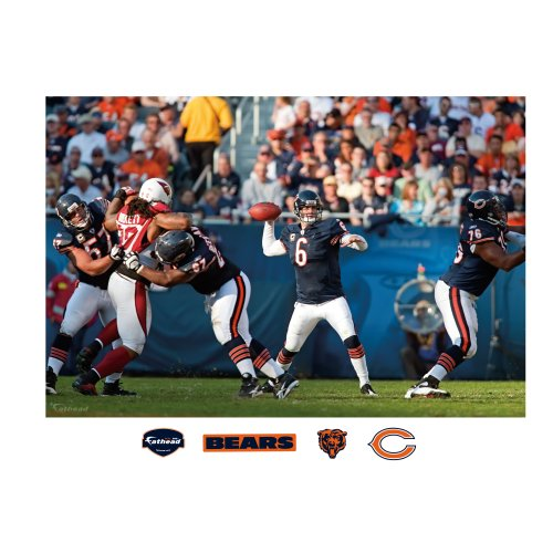 NFL Chicago Bears Jay Cutler In Your Face Mural Wall Graphic by FATHEAD