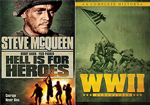 WWII Set - Hell is for Heroes Steve McQueen & WWII Remembered: A Complete History Documentary (Over 9 Hours) 3-DVD - Black Tom Flynn Ford