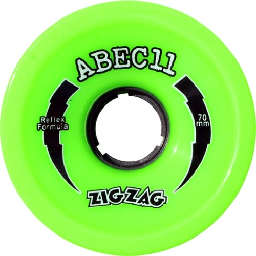 Used, Abec 11 ZigZags Lime Longboard Wheels - 70mm 80a (Set for sale  Delivered anywhere in USA
