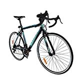 Trinx TEMPO1.0 700C Road Bike Shimano 21 Speed Racing Bicycle (Black/Blue)