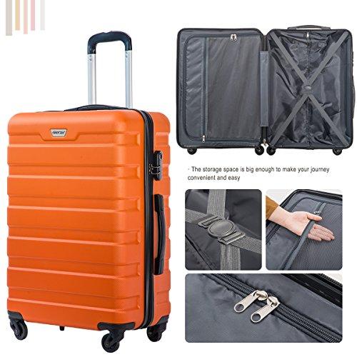 Merax Luggage Set 3 Piece Lightweight Spinner Suitcase (Orange) by Merax (Image #7)