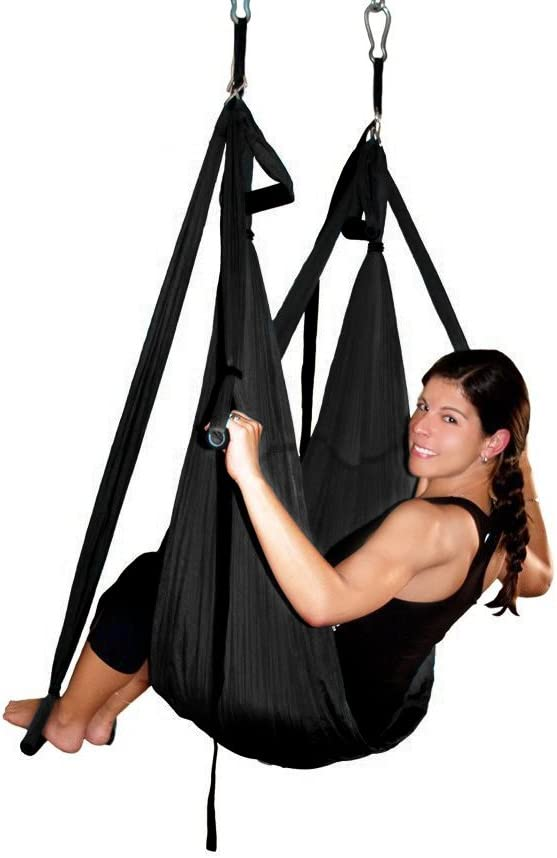 AGPTEK Deluxe Aerial Hammock Yoga Swing Inversion Sling, Flying Antigravity