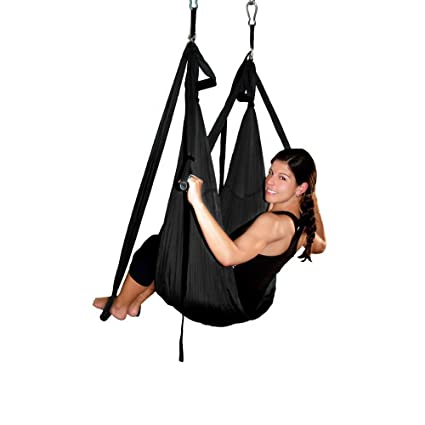 AGPTEK Deluxe Aerial Hammock Yoga Swing/Inversion/Sling, Flying Antigravity