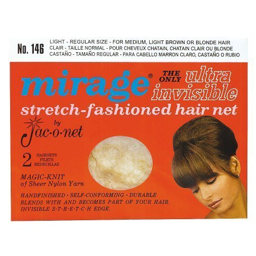 Mirage Ultra Invisible Light Hair Net #146 by Jac-O-Net (Hair Nets Mirage)