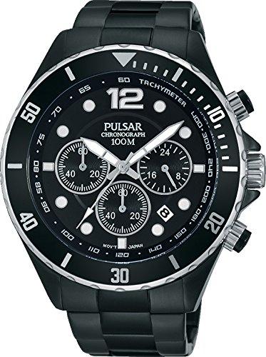 Pulsar para Hombre-Reloj analógico de Cuarzo Chapado en Acero Inoxidable PT3721X1: Amazon.es: Relojes