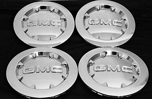"NEW GMC SIERRA 1500 YUKON XL DENALI CHROME CENTER CAP WHEEL HUB 20"" 2007 2012 (4 x PCs) -"