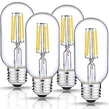 DORESshop LED Filament Bulb Dimmable, 4W (40W Equivalent), 4000K Natural White, T45 Vintage Edison Light Bulb, E26 Medium Base Lamp, 400LM, Antique Style Light Bulbs for Light Fixture, 4-Pack