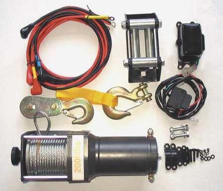 Dayton 1DMP3 Winch, Electric, 12VDC, 1500 Lb Cap