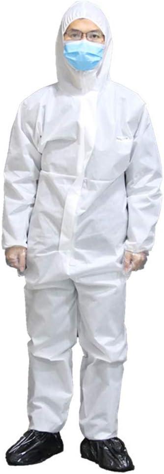 使い捨てつなぎ服検疫ガウンフードつなぎ服屋内屋外保護男性/女性20セット